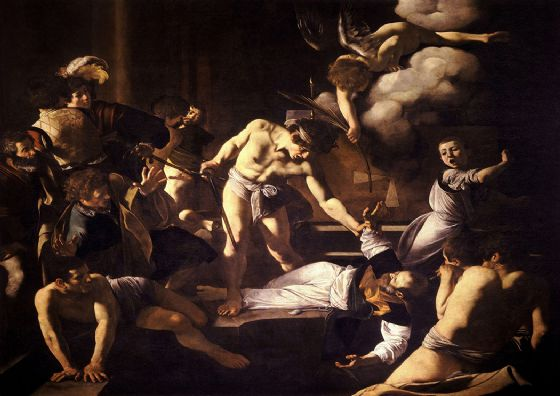 Caravaggio, Michelangelo Merisi da: The Martyrdom of Saint Matthew. Fine Art Print/Poster. Sizes: A4/A3/A2/A1 (002069)